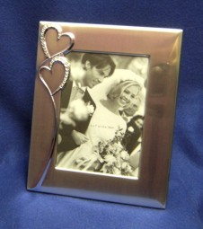 WED004 Hearts Photo Frame 5 x 7