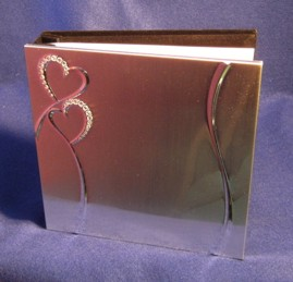 WED008 Hearts Wedding Guest Book